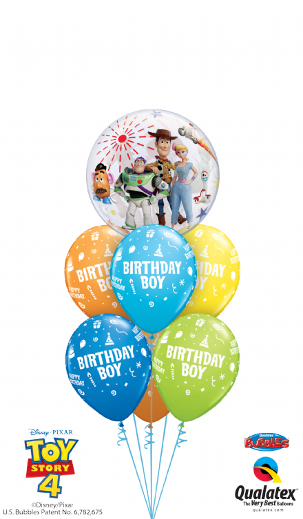 Birthday Boy/Girl  Toy Story 4 Bubble Double Luxury Layer